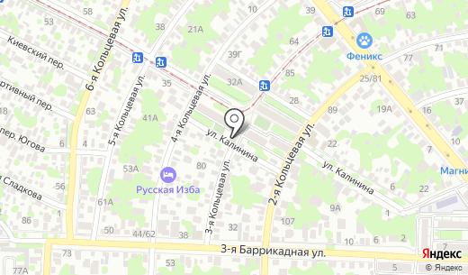 Сеть продуктовых магазинов. Схема проезда в Ростове-на-Дону