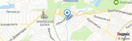Аржани на карте Ростова-на-Дону