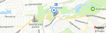АЗС Прогресс на карте Ростова-на-Дону
