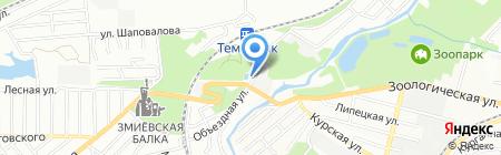 Уголёк на карте Ростова-на-Дону