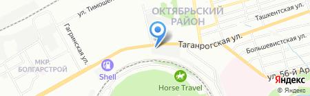 Новая Поляна на карте Ростова-на-Дону