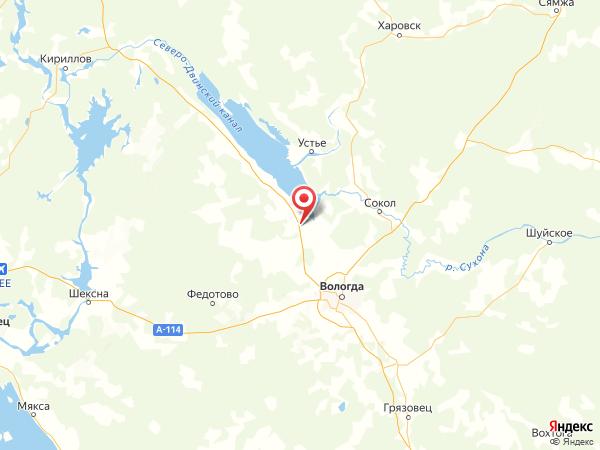 деревня Куровское на карте