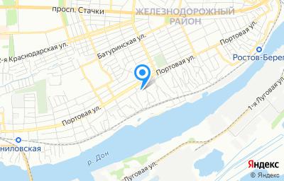 Местоположение на карте пункта техосмотра по адресу г Ростов-на-Дону, пер Туристский, д 13