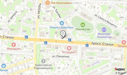 Ступени. Схема проезда в Ростове-на-Дону
