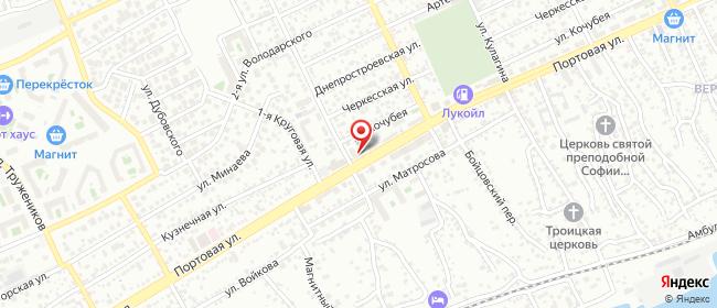 Карта расположения пункта доставки На Портовой в городе Ростов-на-Дону