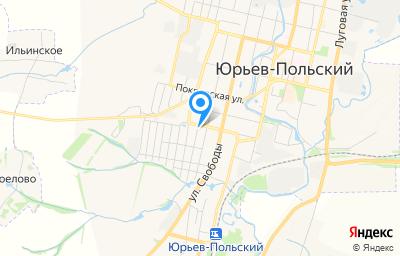 Местоположение на карте пункта техосмотра по адресу Владимирская обл, г Юрьев-Польский, ул Заводская, д 23А