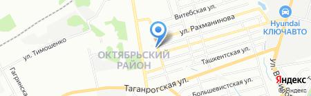 Дон аппетито на карте Ростова-на-Дону