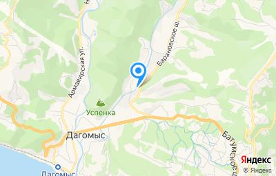 Местоположение на карте пункта техосмотра по адресу Краснодарский край, г Сочи, ул Барановское шоссе, д 7