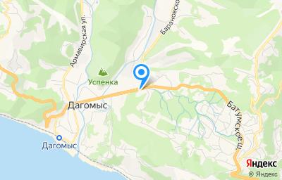 Местоположение на карте пункта техосмотра по адресу Краснодарский край, г Сочи, ул Батумское шоссе, д 30Б