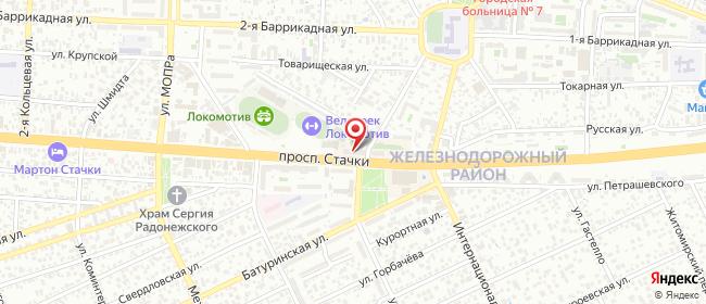 Карта расположения пункта доставки Сокол в городе Ростов-на-Дону