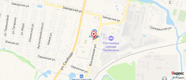 Карта расположения пункта доставки На Вокзальной в городе Юрьев-Польский