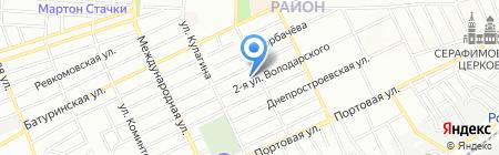 Альфа на карте Ростова-на-Дону