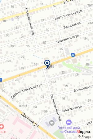 Продуктовый магазин на Таганрогской на карте Ростова-на-Дону