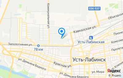 Местоположение на карте пункта техосмотра по адресу Краснодарский край, г Усть-Лабинск, ул Шаумяна, д 1