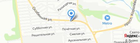Продуктовый магазин на Особенной на карте Ростова-на-Дону