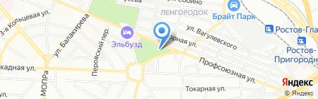Ростов-Фарм на карте Ростова-на-Дону