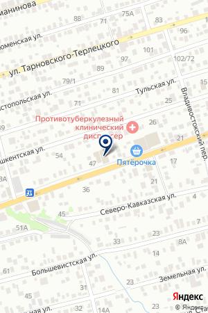 АВТОМАСТЕРСКАЯ АВТОСЕРВИС на карте Таганрога