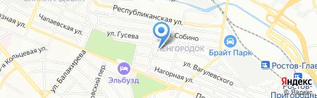 Триколор на карте Ростова-на-Дону