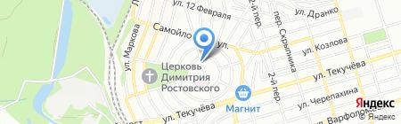 Средняя общеобразовательная школа №70 на карте Ростова-на-Дону