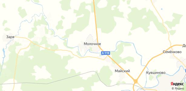 Молочное на карте
