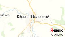 Отели города Юрьев-Польский на карте