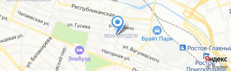 Звездочка на карте Ростова-на-Дону