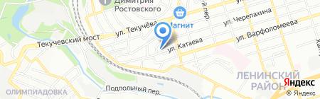 Детский сад №232 на карте Ростова-на-Дону