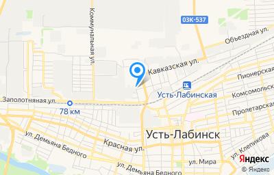Местоположение на карте пункта техосмотра по адресу Краснодарский край, г Усть-Лабинск, ул Шаумяна, д 20Д