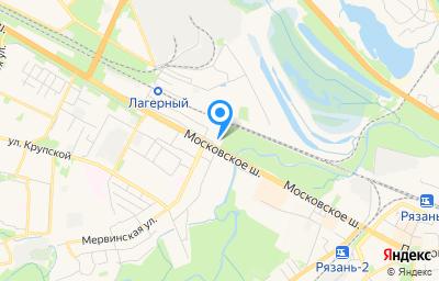 Местоположение на карте пункта техосмотра по адресу г Рязань, ш Московское, д 10Б