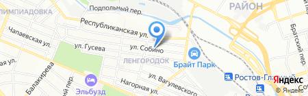 Детская поликлиника №5 на карте Ростова-на-Дону
