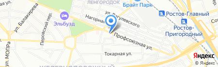Мирта на карте Ростова-на-Дону