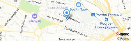 Средняя общеобразовательная школа №83 на карте Ростова-на-Дону