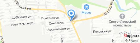 Ручеек на карте Ростова-на-Дону