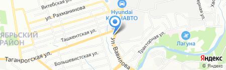 Югэнергоспецстрой на карте Ростова-на-Дону