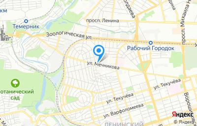 Местоположение на карте пункта техосмотра по адресу г Ростов-на-Дону, ул Мечникова, д 33А/23