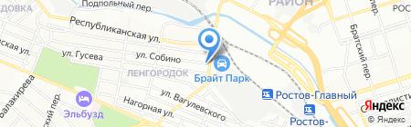 Каскад на карте Ростова-на-Дону