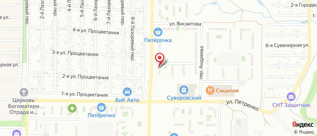 Карта расположения пункта доставки Ростов-на-Дону Белоусова в городе Ростов-на-Дону