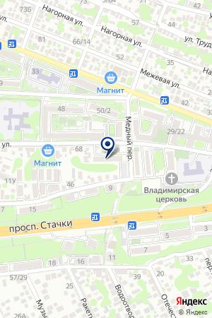 ЖЕЛЕЗНОДОРОЖНЫЙ на карте Ростова-на-Дону