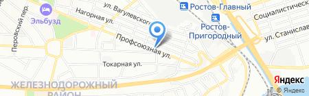 Амб-Юг на карте Ростова-на-Дону
