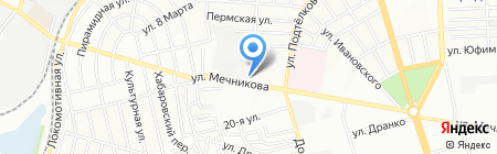 Феникс на карте Ростова-на-Дону