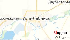 Гостиницы города Усть-Лабинск на карте
