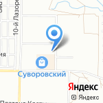 Суворовский на карте Ростова-на-Дону