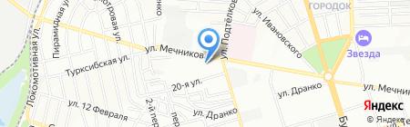 Глобус на карте Ростова-на-Дону