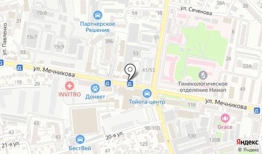 КБ Центр-инвест. Схема проезда в Ростове-на-Дону