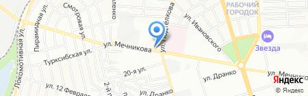 Сад на карте Ростова-на-Дону