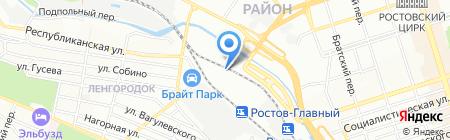 Женави на карте Ростова-на-Дону