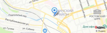Донской крепеж на карте Ростова-на-Дону
