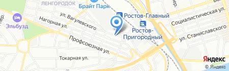 Чара на карте Ростова-на-Дону