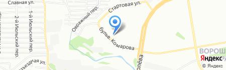 Средняя общеобразовательная школа №100 на карте Ростова-на-Дону