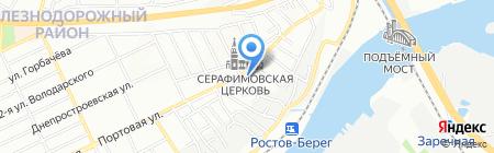Кром на карте Ростова-на-Дону